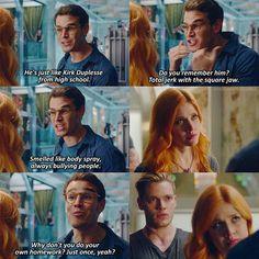 "#Shadowhunters 1x04 ""Raising Hell"" - Clary, Simon and Jace"