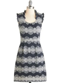Waiting for Winsome Dress in Lace. You held out until you found the loveliest of casual looks, and now its here in this charming sweater dress.  #modcloth