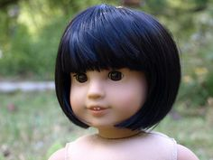 Pic Request: Jess mold w/ bob hair cut & bags? | American Girl Playthings! A Blythe wig!
