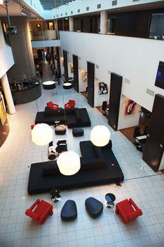 Chic lobby @ Dutch Design Artemis Hotel in Amsterdam.