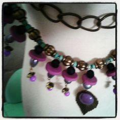 Corto en violeta bronce y aguamarina