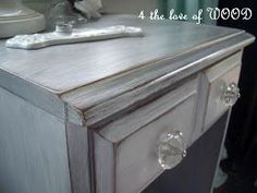 WHITE WASHED DOVE GREY - primer and wax - practice on a piece of furniture first!