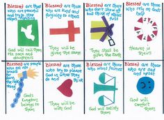 Flame: Creative Childrens Ministry: Beatitudes cards (explaining the Beatitudes in child friendly language!)