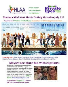 Hearing Loss Association of America - Florida's Gulf Coast Clearwater Area Movie Club, In And Out Movie, Sun City, Feel Good, Coast, Join, Florida, America, Film