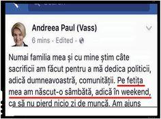 """Andreea Paul (Vass): """"Pe fetita mea am nascut-o sambata,…, ca sa nu pierd nici o zi de munca."""" PNL anunta ca este gata sa taie pensii si salarii"""
