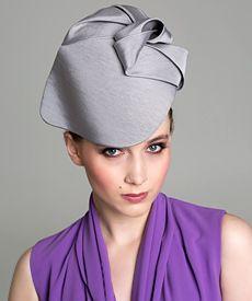 Fashion hat Grey Soft Visor, a design by Melbourne milliner Louise Macdonald