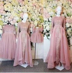Ideas Fashion Girl Model For 2019 Dress Brukat, Hijab Dress Party, Kebaya Dress, Dress Pesta, Dress Outfits, Kebaya Brokat, Muslimah Wedding Dress, Muslim Wedding Dresses, Kebaya Muslim