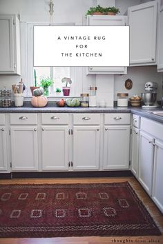 Thoughts from Alice: A Vintage Rug for the Kitchen & a Giveaway!