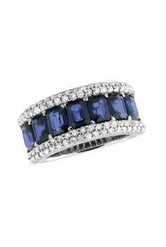 Effy Gemma Blue Sapphire and Diamond Ring, TCW discovered on Fantasy Shopper Gems Jewelry, Jewelry Accessories, Fine Jewelry, Jewelry Design, Jewlery, Sapphire Jewelry, Blue Sapphire Rings, Emerald Rings, Ceylon Sapphire