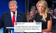 Trump says he was talking about Megyn Kelly's NOSE
