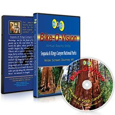 Bike-O-Vision - Virtual Cycling Journey - Sequoia & Kings Canyon National Parks - Perfect for Indoor Cycling and Treadmill Workouts - Cardio Fitness Video (Widescreen DVD