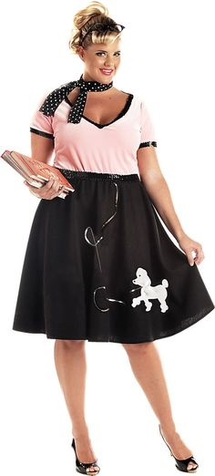 Adult Sweetheart Poodle Dress Plus Size 50s Costume - Party City