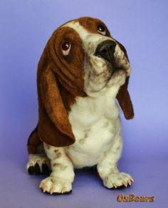 Boris The Basset Hound Needle Felted Dog Ozbears OOAK Artist Teddy Bear Friend | eBay