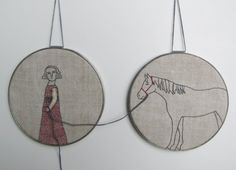 hand embroidery wall decor