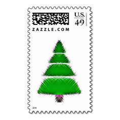 Christmas Tree Postage Stamp