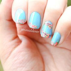 Cherry blossoms nail art :)
