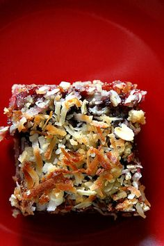 Oatmeal Coconut Raspberry Bars
