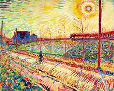 Larens landschap -Jan Sluijters, olieverf op doek. Laren 1910