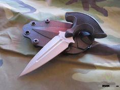 Schrade SCHF54 Full Tang Push Dagger Knife (3.24 Inch Blade)   OsoGrandeKnives
