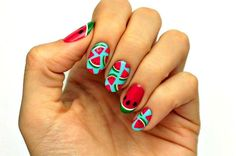 Splurge into the summer heat with this newest trend - fruit nail art! This watermelon slices nail art will surely bring out the summer lover in you!