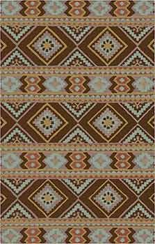 Love the deep brown background in this Western or Southwestern