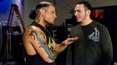 See Matt and Jeff Hardy like never before in these rare photos that show a whole new side of the enigmatic duo. Wwe Jeff Hardy, Hardy Brothers, Brothers In Arms, Wwe Fanfiction, The Hardy Boyz, Wwe Tna, Wwe News, Wwe Photos, Wwe Wrestlers