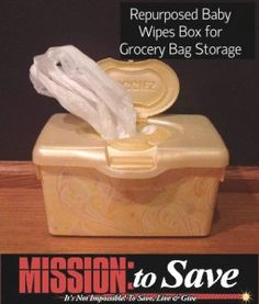 Reuse those baby wipes containers from @Mission: to Save Blog!