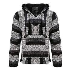 Siesta – Sweat-shirt à capuche – – À rayures – Manches longues Homme Gris  Gris taille unique 96eb4120962