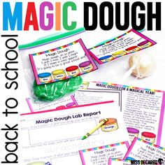 magic dough first day of school activity