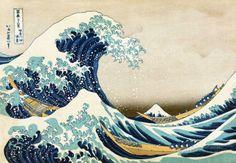 """Die große Welle von Kanagawa (aus der Serie """"36 Ansichten des Berges Fuji""""), ca. 1829 Kunstdrucke von Katsushika Hokusai bei AllPosters.de"""