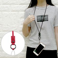 Baseus Fan Leather Phone Hanging Strap Lanyard Anti-lost Neck Strap for iPhone Samsung Xiaomi HTC