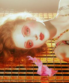 Madison Stubbington for Vogue Italia September 2015 issue by Miles Aldridge; Styling is courtesy of Karen Langley with hair by Kerry Warn, makeup by Isamaya Ffrench, and manicure by Shreen Gayle Beauty Editorial, Editorial Fashion, Madison Stubbington, Bronze Makeup Look, Miles Aldridge, Vogue Beauty, Creative Makeup Looks, Beauty Portrait, Beauty Shots