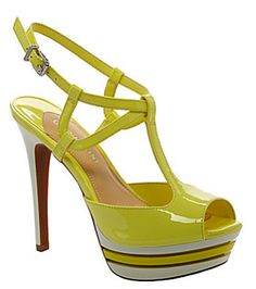 Yellow sandals from Gianni Bini spring/summer 2013 collection. Shoes.