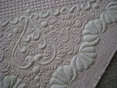 Closeup of wholecloth by butterflyquilts