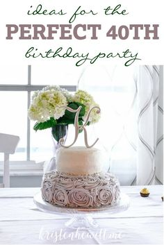 Not to happy about the big 4-0? Me either. The thought of celebrating depressed me. But once we started planning, I was super excited for an elegant night at home with friends. Here are some ideas for your PERFECT 40th BIRTHDAY PARTY! Enjoy!