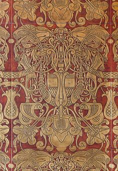 Heinrich Vogeler, Beautiful Wall, Beautiful Things, Pattern And Decoration, Home Wallpaper, Romanticism, Art And Architecture, Red And Pink, Art Images