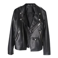 Song Leather jacket (499.745 COP) ❤ liked on Polyvore featuring outerwear, jackets, coats, tops, leather jackets, real leather jackets, genuine leather jackets and 100 leather jacket