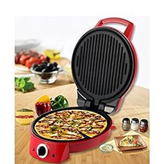 Buy Wonderchef Italia Pizza Maker (red) good quality and brand product online with discount and cheap prices at kitchenwarehub. Pizza Maker, Sanjeev Kapoor, Great Pizza, Breakfast Lunch Dinner, Waffle Iron, Food Facts, New Flavour, Healthy Cooking, Kitchen Gadgets