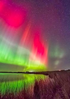 The Northern Lights over Caithness, Scotland.