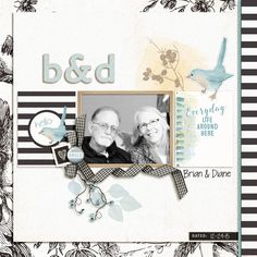 Digital Scrapbook Page Layout by Diane using the Mariko Kit and Mariko Journal Cards from Lynn Grieveson Designs at The Lilypad #lynngrievesondesigns #thelilypad #digitalscrapbooking #memorykeeping #winter #journalcards
