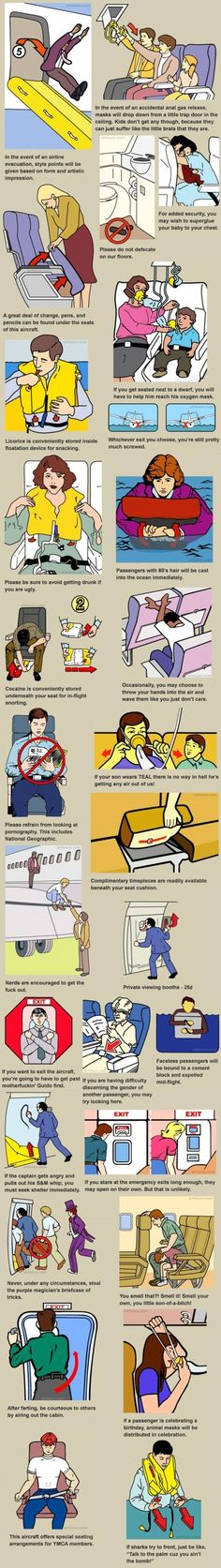 This is awesome!! Airline safety instructions explained