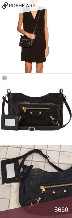 I just added this listing on Poshmark: Balenciaga crossbody handbag in black 🖤. #shopmycloset #poshmark #fashion #shopping #style #forsale #Balenciaga #Handbags