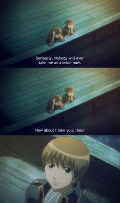 Oh, Okita's finally proposing to Kagura!!! :)))  Tags: Gintama, Okikagu, Anime, Comedy