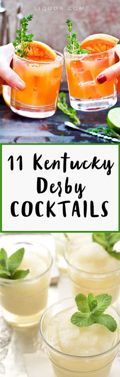 You don't have to only drink Mint Juleps on Kentucky Derby Day. Try these 11 different #DerbyDay #cocktails now!