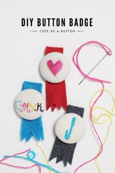 diy button badge. cute. via http://www.apairofpears.com/2012/02/diy-button-badge.html