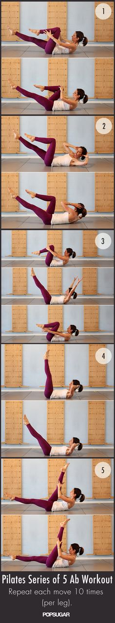 Workout Extra Credit: Strengthen Abs in Just 2 Minutes This group of classic Pilates moves, collectively known as the Series of Five, is the perfect addition to any workout. Yoga Fitness, Fitness Diet, Fitness Motivation, Health Fitness, Health Exercise, Exercise Meme, Physical Exercise, Fitness Quotes, Fitness Goals