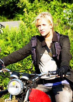 Karen on Falling Skies.  I loved her than she got harnessed