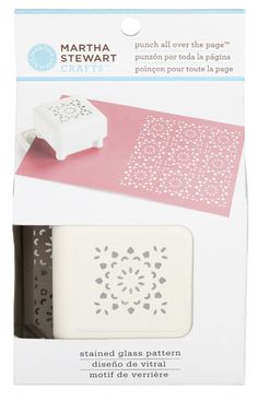 Martha Stewart Crafts - Punch All Over the Page - Craft Punch - Pattern Stained Glass at Scrapbook.com $19.99