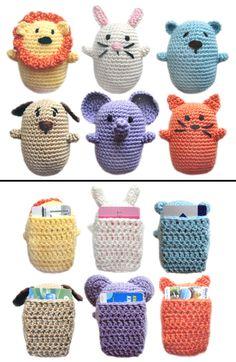 Crochet Pattern: Animal Gift Card Holders