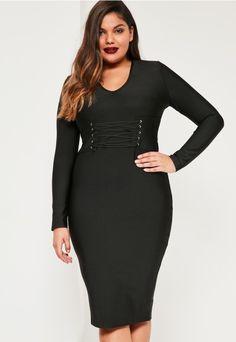 Plus Size Corset Dress (plus size) #plussizefashion #dress